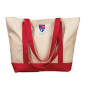 Embroidered Crest Tote Bag